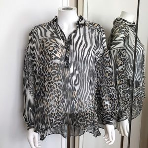 JUST CAVALLI  Blouse/ Shirt  Size 42/6US